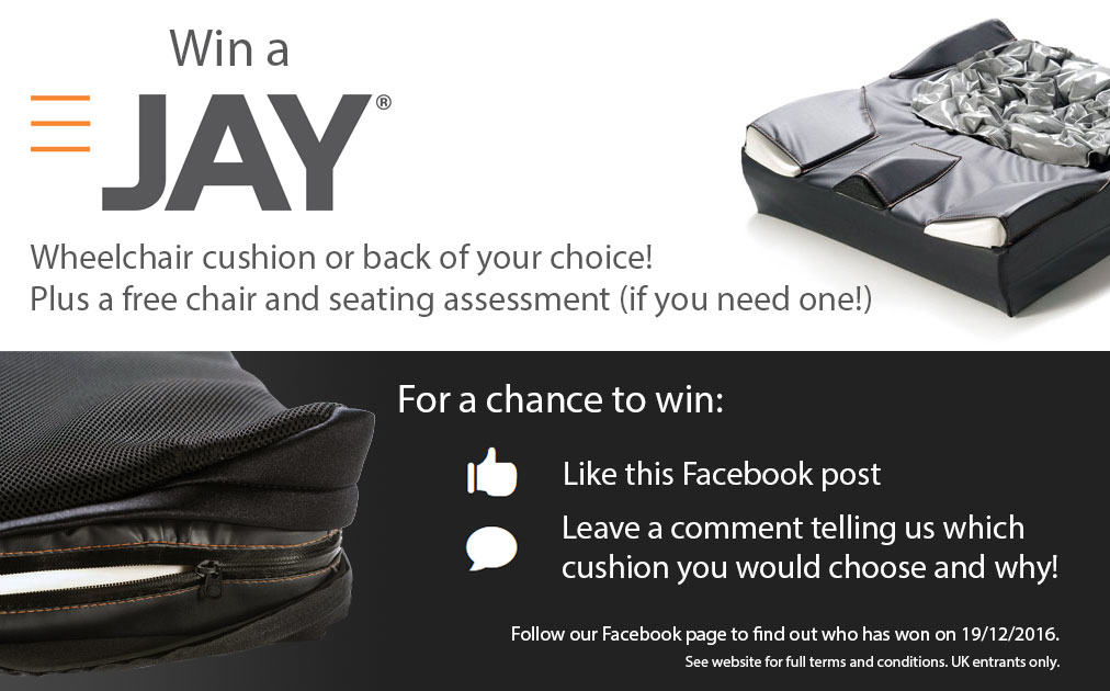 Win a Jay wheelchair cushion or back of your choice!