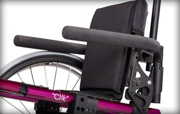 Little Wave Click Wheelchair Armrests