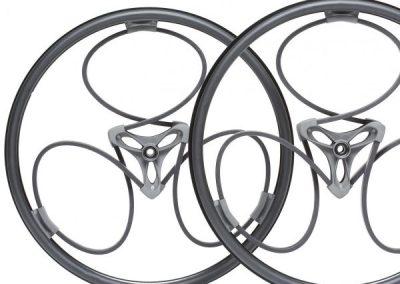 Loopwheels Black Wheelchair Wheels Flat
