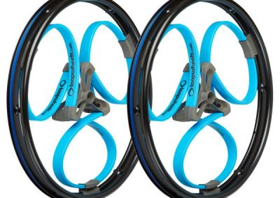 Loopwheels Blue Wheelchair Wheels