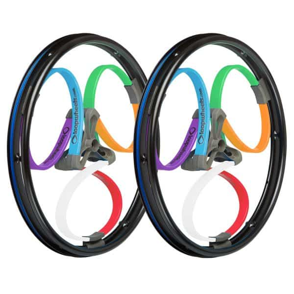 Loopwheels Multicoloured Wheels for Manual Wheelchair