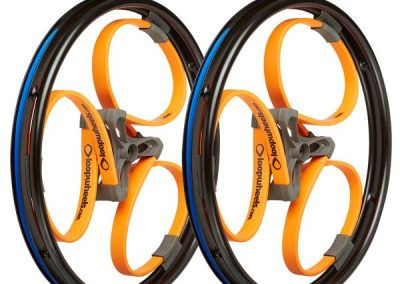Loopwheels Orange Wheelchair Wheels