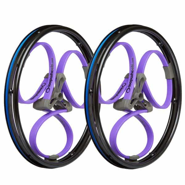 Loopwheels brightly coloured wheelchair wheels