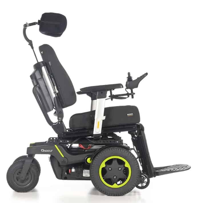 Powered Wheelchair Side View