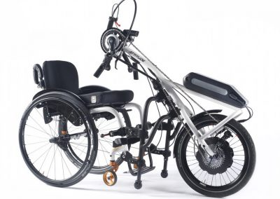 Quickie Attitude Hybrid attached to wheelchair