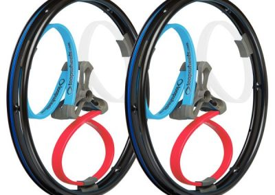 Red White and Blue Wheelchair Wheels